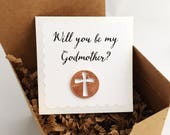Will you be my Godmother, be my Godparent, baptism, be my Godfather, cross penny