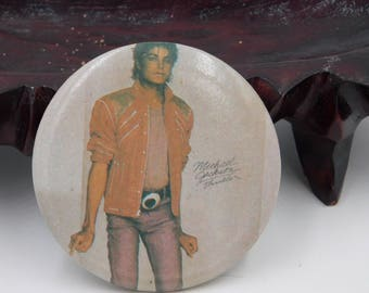Vintage 1980's Michael Jackson Triller Pin Pinback Button Badge DR4