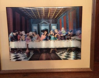 High Kitsch Last Supper Lentograph 1960s Large Size