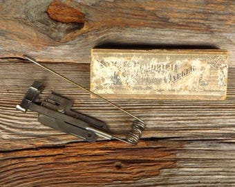 Antique Goodrich Tuck Marker Late 1800s Antique Sewing Machine Attachment Sewing Collectibles Original Box