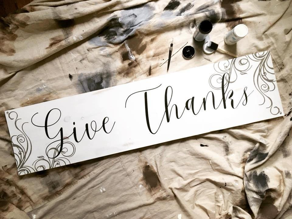 Give Thanks Rustic Wooden...