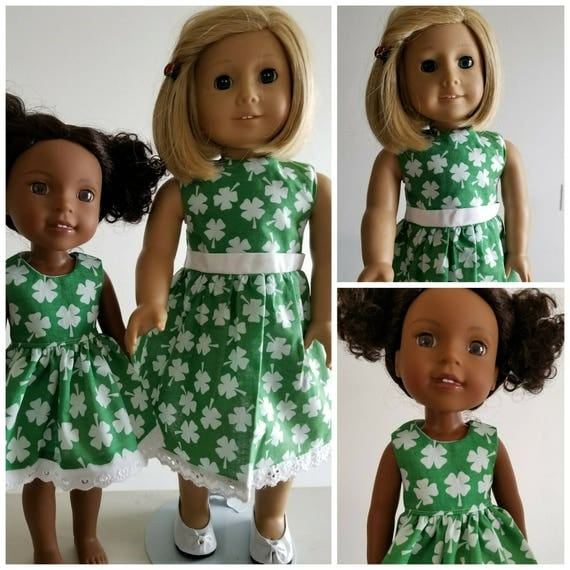St. Patty Day Dress for your  AG and WW Dolls.