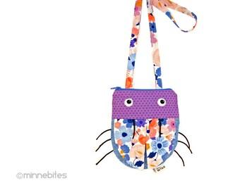Small Purple Purse - Cute Cross Body Purse - Girls First Birthday - Little Girls Purse - Purple Ladybug - Cute Bag for Girls - Ready to Ship
