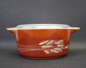 Vintage Pyrex 'Autumn Harvest' 475B Casserole Dish with Lid (E9237)