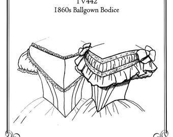Civil War Ballgown Bodice Pattern