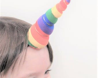 Rainbow Unicorn Headband, Pride March, Kids Pride costume, Gay Pride, Toddler Pride Costume, Rainbow Costume, LGBTW Headband, Pride Costume