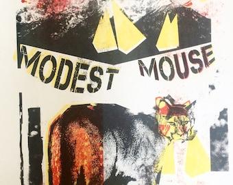 Modest mouse gig poster detroit mo pop 2015