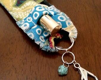 Turquoise Boho Lip Gloss Holder Keychain for Women, Stocking Stuffer, Small Gift, Gift for Sister, Mom, Lip Gloss Key Chain, Lip Gloss Cozy
