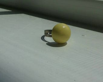 Canary yellow statement ring