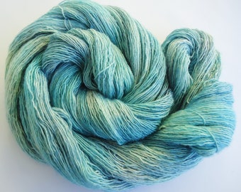 Hand dyed Merino Silk Lace yarn hand painted: Arctic