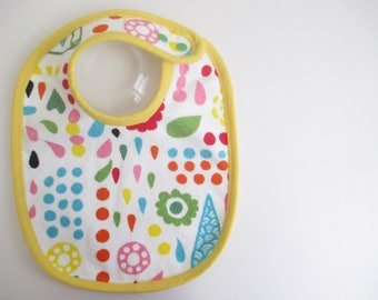 EcoBib--Adjustable Snap Closure--Modern and Fun Design--Ready to Ship