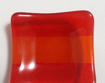 Fused Glass Small Square Condiment Dish