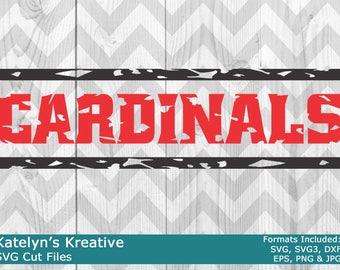 Cardinals Distressed SVG Files