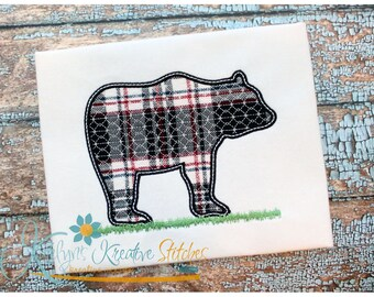 Bear Silhouette Applique