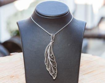 Li-P, Handmade Sterling Silver Filigree Pendant for HER