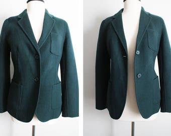Vintage 90s Size 8 Hunter/Moss Green Wool Jacket Coat