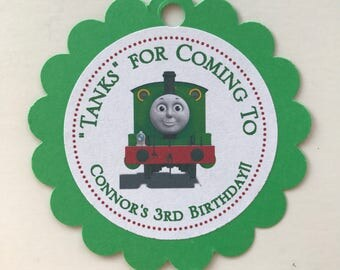 Percy the Small Engine Party Favor Tags