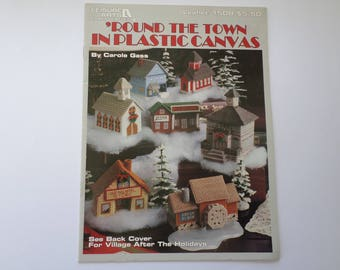 Christmas Village in Plastic Canvas Instruction booklet