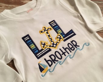 Lil Brother Onesie or shirt - anchors