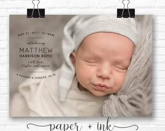 Arc Birth Baby Announcement