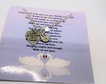Memorial Jewelry Memorial Necklace Sympathy Gift Remembrance Jewelry