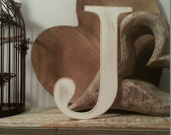 Giant Wooden Letter - J - Times Roman Font, 50cm high, 20 inch, any colour, wall letter, wall decor - various colours & finishes