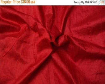 15% off on One yard 100 percent pure red dupioni silk