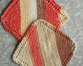 Dishcloth/washcloth, Knit Washcloth/Dishcloth, Housewarming Gift, Spa Gift, Set of 2