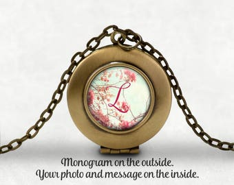 Personalized Locket, Bridesmaid Gift, Custom Locket With Your Message And Photo Inside