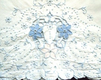 Pair of Lavishly Hand Embroidered Pillowcases
