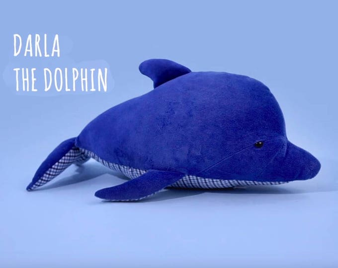 Pollutoy, Darla the Dolphin, Stuffed Dolphin, Educational Plush toy
