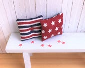 Miniature Pillows With Stars and Stripes - Perfect for Your Summer or 4th of July Decor