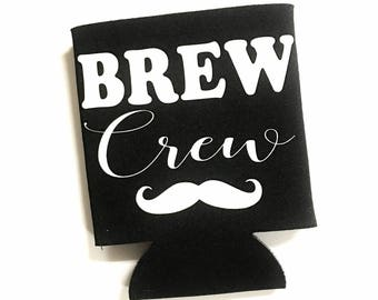 Bachelor Party Favors - Bachelor Can Coolers - Groomsman Gift - Personalized Groomsman Gift - Bachelor Party - Wedding Party Gifts - Brew