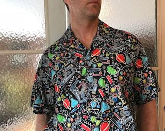 Scientists Hawaiian shirt, Biology shirt, Science lover shirt, casual Friday shirt, party shirt