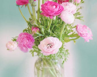 Bouquet of Ranunculus Fine Art Photo Print