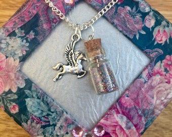 Pagsus unicorn Charm necklace