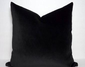 SPRING FORWARD SALE Jb Martin Solid Black Velvet Pillow Cover Throw Pillow Solid Black Velvet Pillow Cover Choose Size