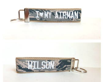 USAF Personalized Keychain with Last Name