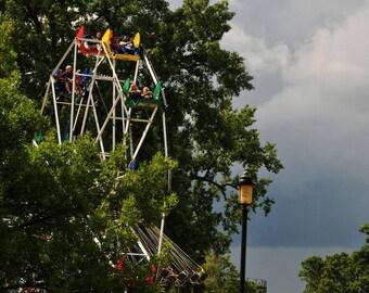 Amusement Park Ride Ferris Wheel Photo, Happy Childhood Memories, Home Decor, Child's Room Decor, Primary Colors Nursery Decor