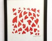 Heart Print Wall Art - Li...