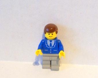 Lego Minifigure Man In Blue Suit, Lego Man in Blue Suit 1980's