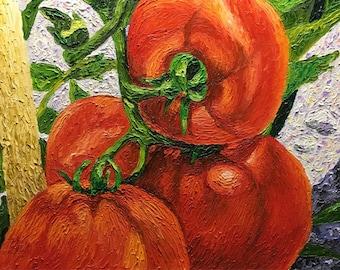 """Original Impasto oil painting """"Vine Ripened"""" 16x20"""