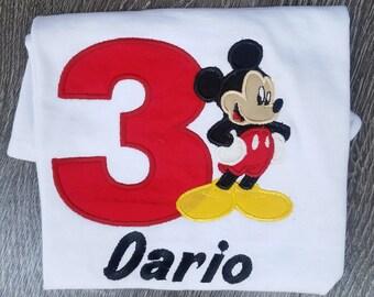 Boys Mickey Birthday shirt