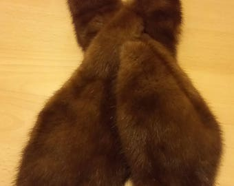 Brown Fur Neck Scarf
