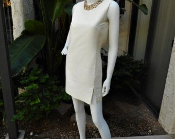 Vintage 1960's Ivory Colored Dress - Size 4
