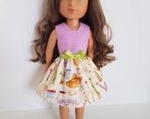 14 Inch Doll Dress: Little Garden Girl