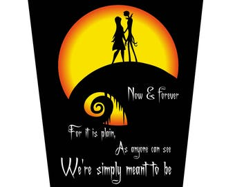 Jack and Sally Moon, We're Simply Meant To Be Greeting Card