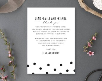 Printable Thank You, Gratitude Card, Reception - Chelsea Collection