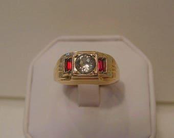 Men's Vintage / Antique Art Deco Rolled Gold Dinner Ring