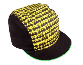 Deadstock 80s Batman Allover Print Neon Accented Cycling Cap